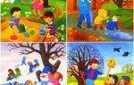 Времена года: картинки, стихи, загадки для детей 3-4, 5-6 лет