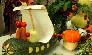 """Поделки из овощей и фруктов на выставку """"Осень"""" в детском саду и школе"""