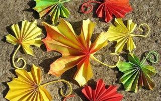 Осенние листья из бумаги своими руками: шаблоны и мастер-классы