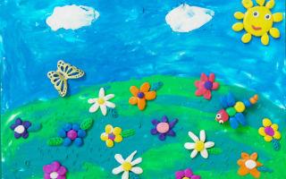 """Аппликации """"Здравствуй, лето!"""" для детей в детском саду и начальной школе"""