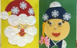 Новогодние открытки своими руками для детей: идеи в детский сад и школу