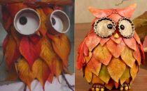 Осенние поделки из листьев: идеи для детского сада и начальной школы