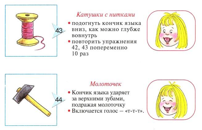 Упражнения Катушка и Молоточек