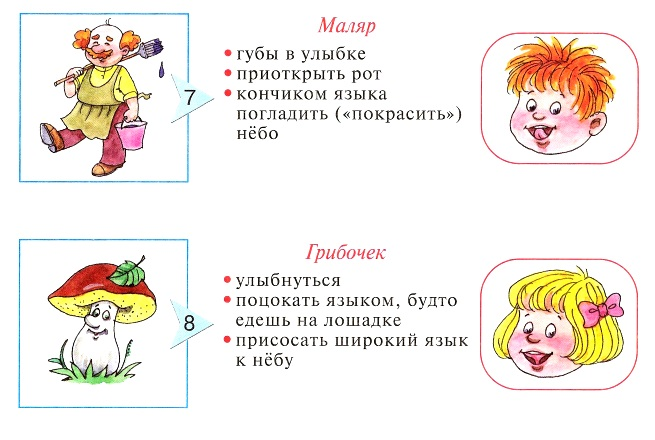 Упражнения Маляр и Грибочек