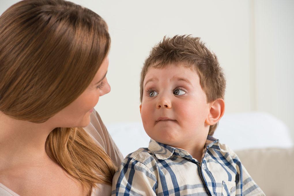 Малыш не понимает что ему говорит мама