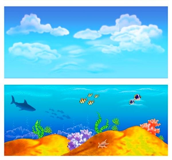 Дидактическая карточка Небо и море