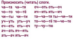 Дифференциация звуков [ч]-[т] в слогах