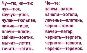 Дифференциация звуков [ч]-[т] в словах 2