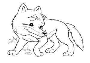 Волк раскраска