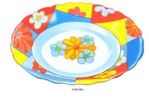 Цветная тарелка