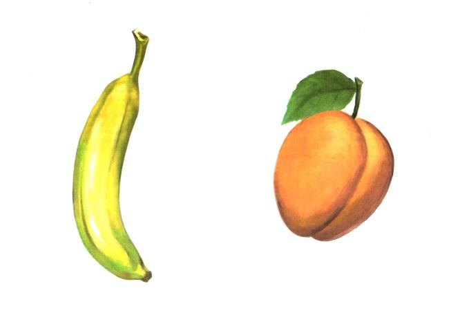 Банан и абрикос