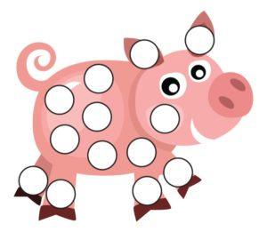 Шаблон Свинка