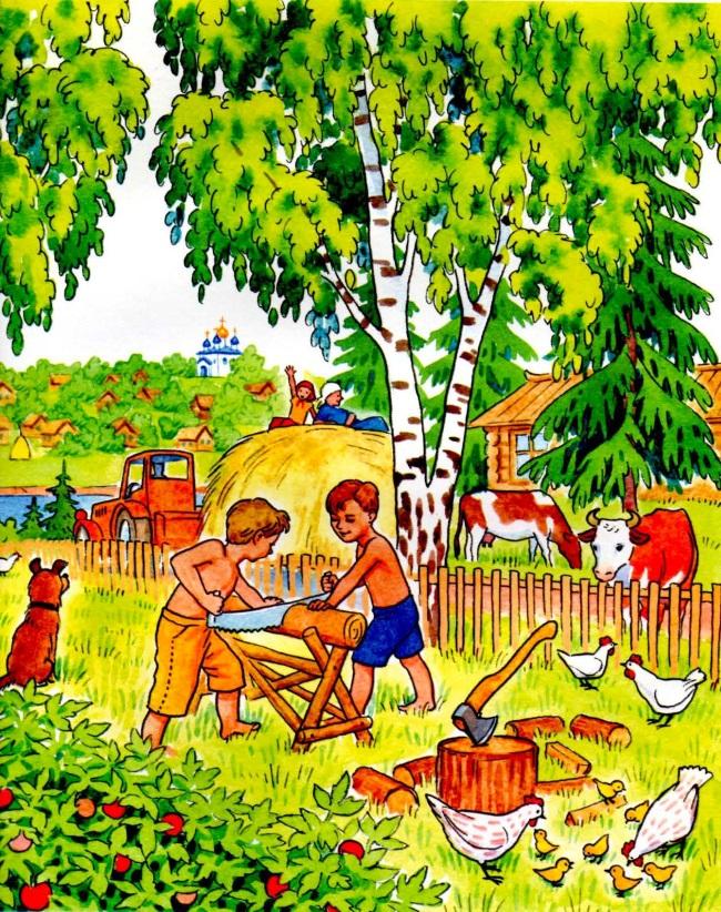 Дети в леревне