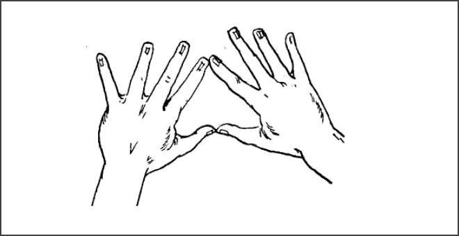 Упражнение Пальчики здороваются