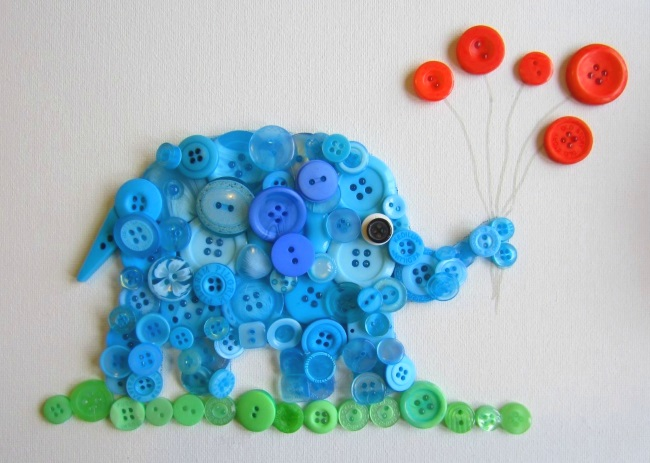Слон из пуговиц
