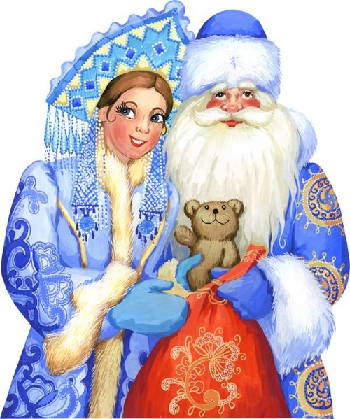 Дед Мороз и Снегурочка рисунок 3