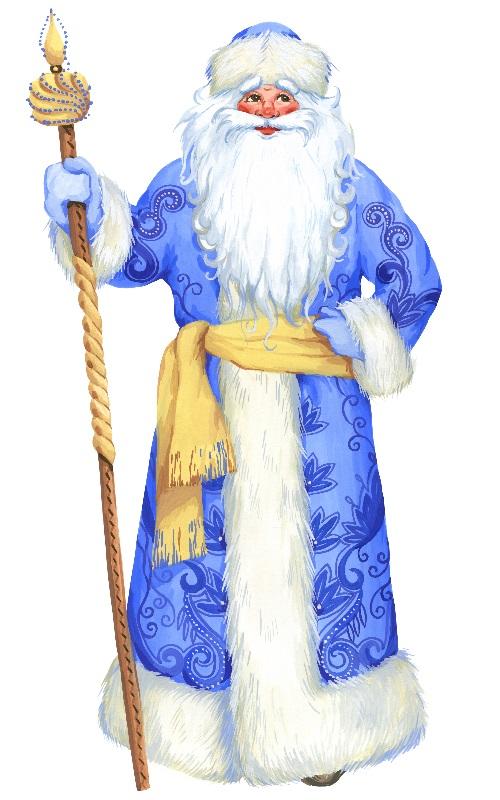 Дед Мороз рисунок 4