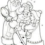 Раскраска Дед мороз, снеговик и снегурочка