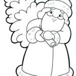 Раскраска Дед Мороз несет ёлку