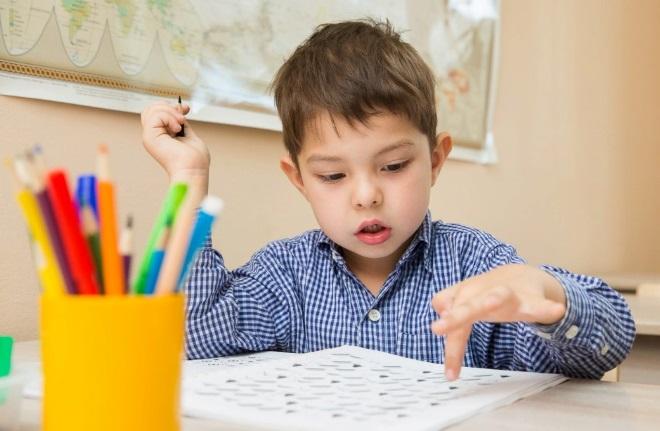 Ребенок на занятии