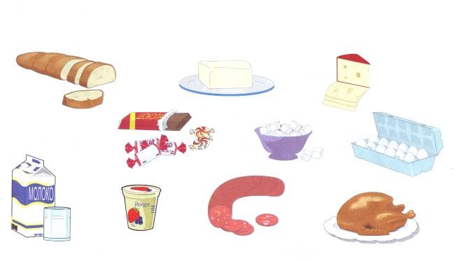 Назови продукты