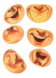 Шаблон лица 6