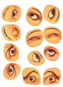 Шаблон лица 8