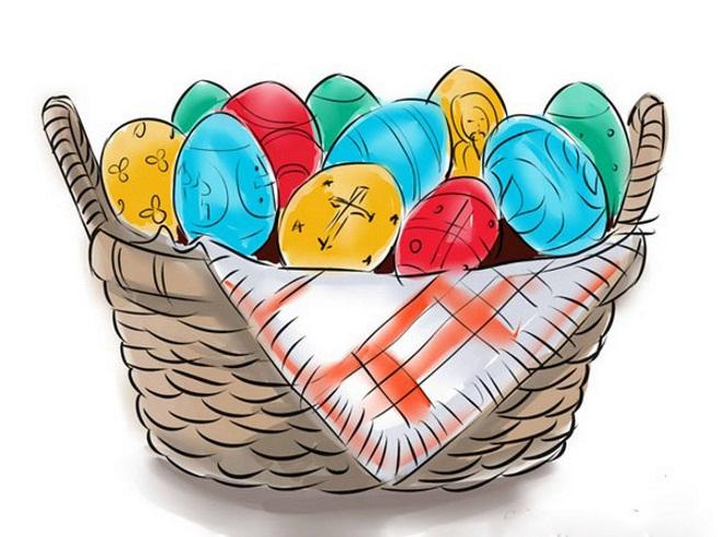 Корзина с яйцами