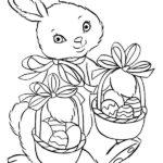 Пасхальный кролик раскраска