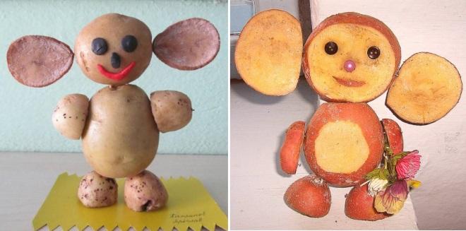 Чебурашка из картошки