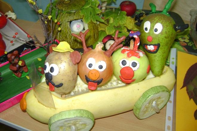 Композиция из овощей и фруктов