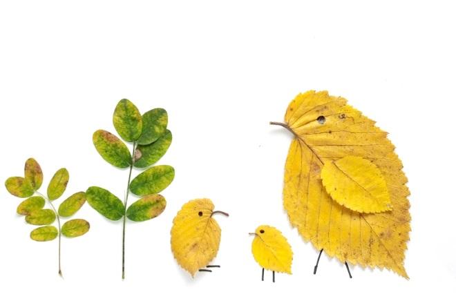 Аппликация Птички