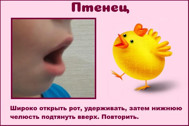 Упражнение Птенец