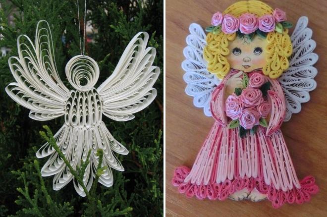 Ангелы квиллинг
