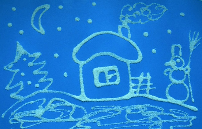Домик Деда Мороза аппликация