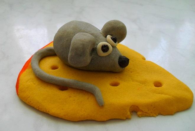 Мышка из соленого теста