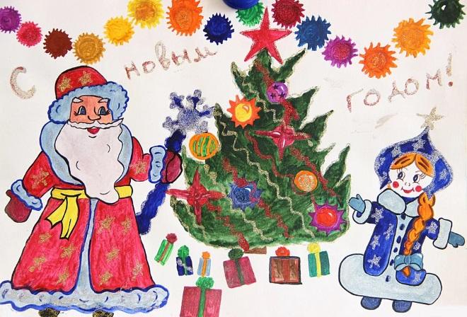 Новогодние рисунок 1