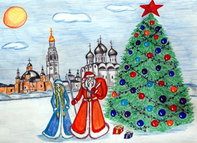 Новогодние рисунок 4