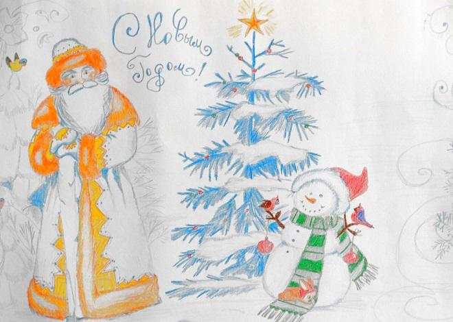 Новогодние рисунок 5