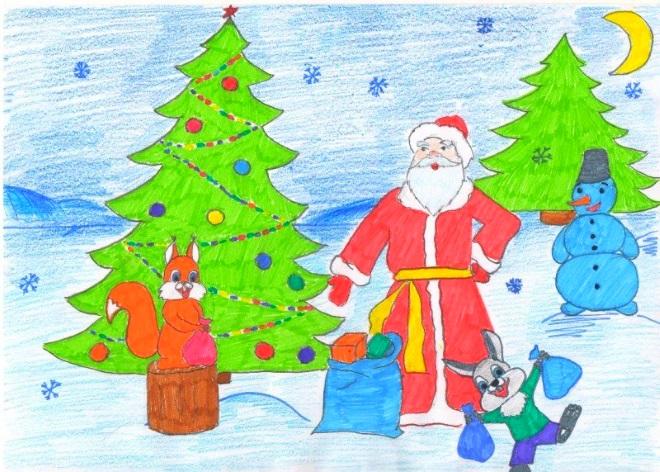 Новогодние рисунок 6