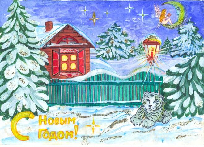 Новогодние рисунок 7