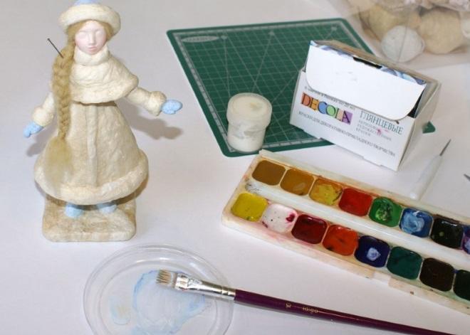 Раскраска фигурки из ваты