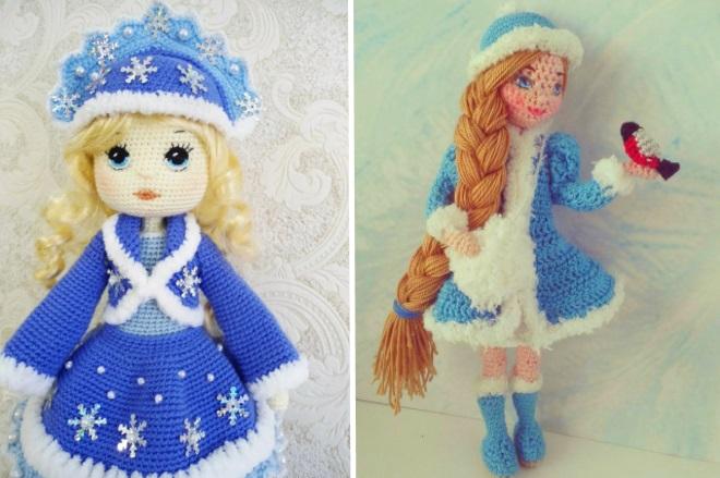 Кукла снегурочка крючком