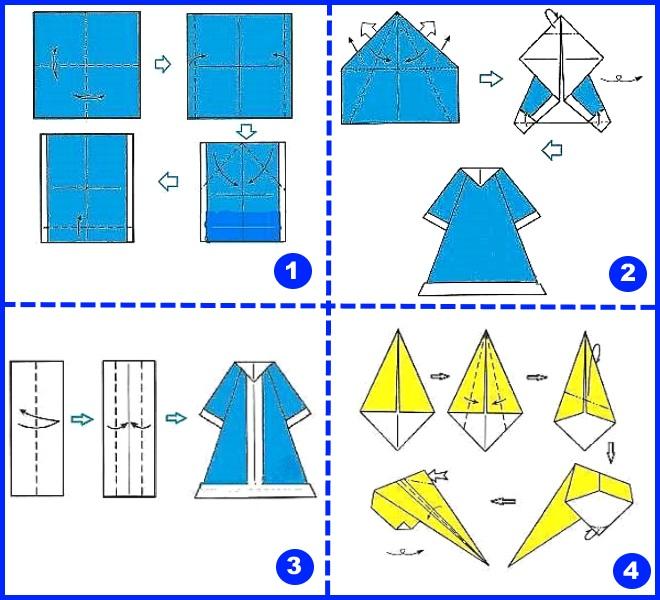 Снегурочка оригами 1