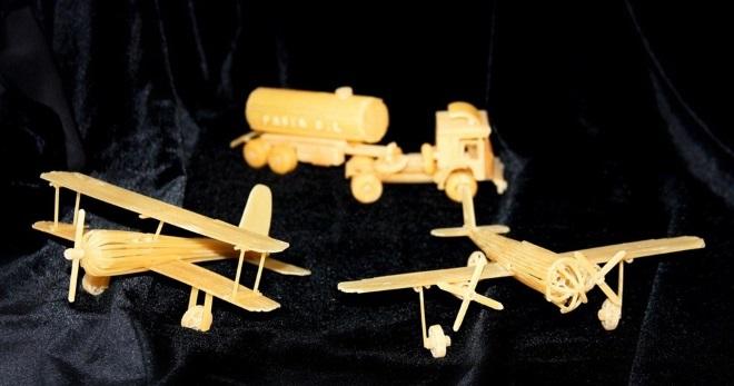 Авиатехника из макарон