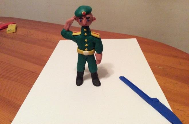 Солдат из пластилина
