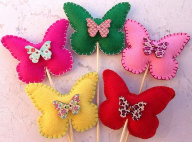 Бабочки из фетра