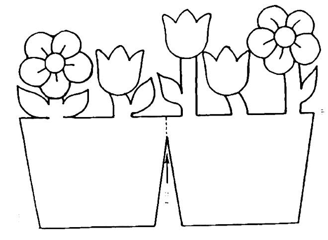 Шаблон открытки с цветами