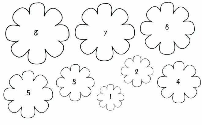 Шаблоны цветков разного размера