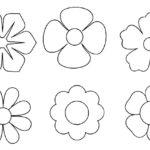 Шаблоны цветков разной формы